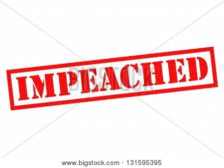 IMPEACHED red Rubber Stamp over a white background.