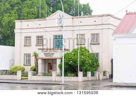 GRAAFF REINET SOUTH AFRICA - MARCH 8 2016: The offices of the Camdeboo Municipality which incorporates the towns of Graaff-Reinet Aberdeen and Nieu-Bethesda