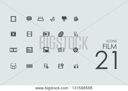film vector set of modern simple icons