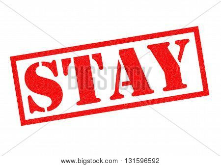 STAY red Rubber Stamp over a white background.