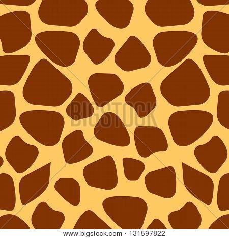 Seamless giraffe fur pattern vector illustration, eps 10