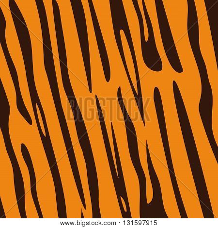 Seamless tiger fur pattern vector, EPS 10