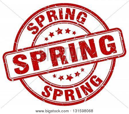 spring red grunge round vintage rubber stamp.spring stamp.spring round stamp.spring grunge stamp.spring.spring vintage stamp.