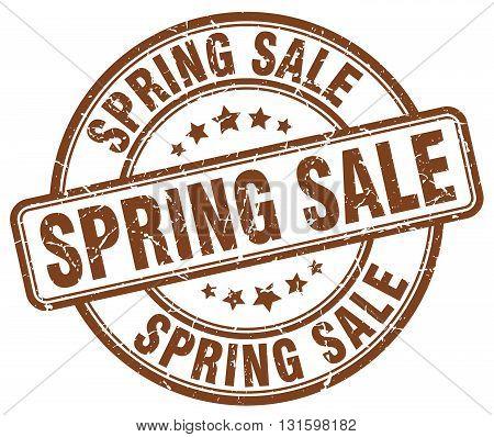 spring sale brown grunge round vintage rubber stamp.spring sale stamp.spring sale round stamp.spring sale grunge stamp.spring sale.spring sale vintage stamp.