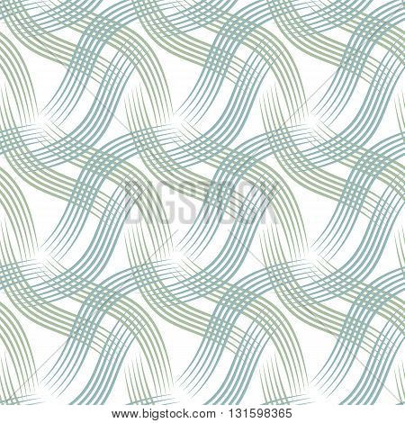 Vector illustration of seamless background with pastel blue and green curves