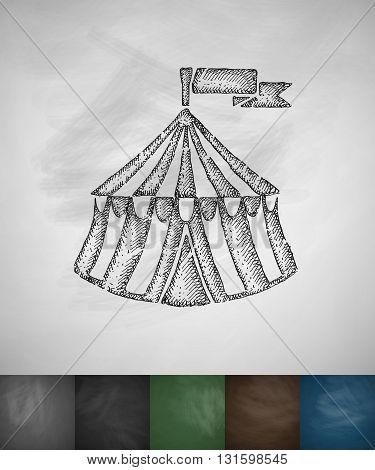 marquee icon. Hand drawn vector illustration. Chalkboard Design