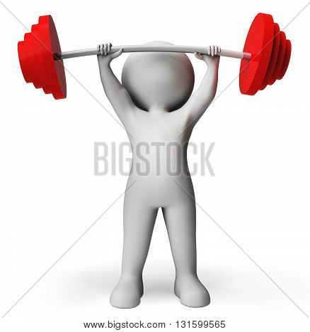 Weight Lifting Means Physical Activity And Confident 3D Rendering