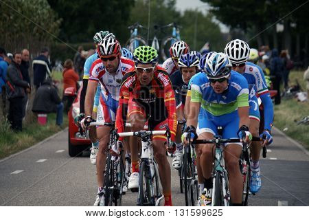 Valkenburg,The Netherlands - 23 September ,2012: Peleton of cyclists during the cycling world championship in Valkenburg.