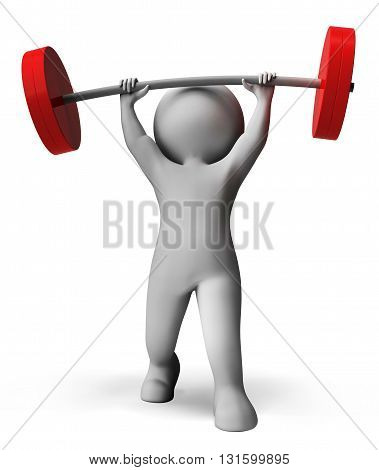 Weight Lifting Means Workout Equipment And Exercise 3D Rendering