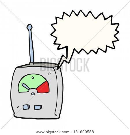 freehand drawn speech bubble cartoon science equipment
