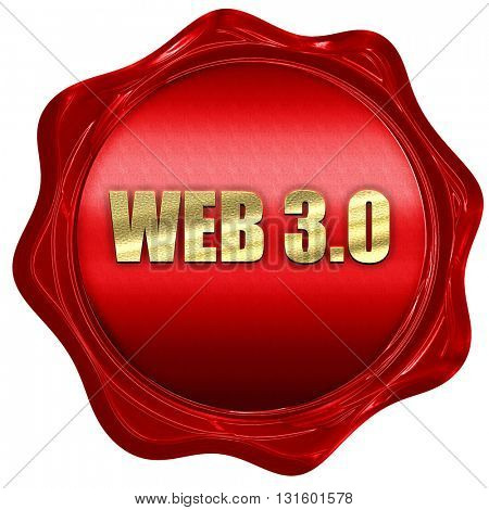 web 3.0, 3D rendering, a red wax seal
