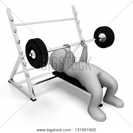 Weight Lifting Represents Physical Activity And Bodybuilding 3D Rendering