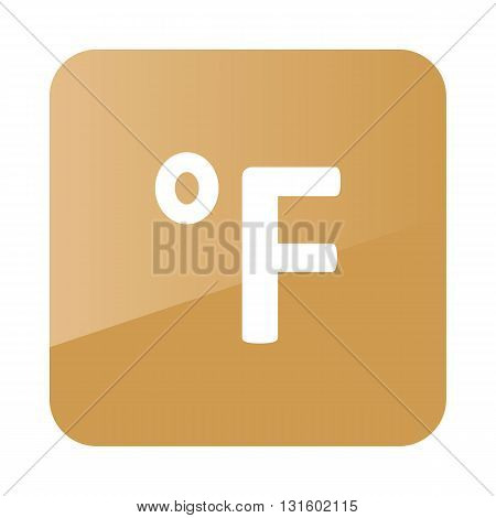 Degrees Fahrenheit outline icon. Meteorology. Weather. Vector illustration eps 10