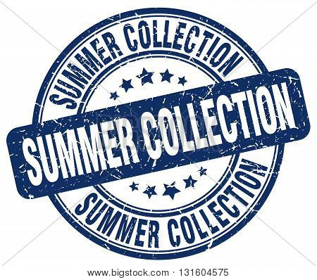 summer collection blue grunge round vintage rubber stamp.summer collection stamp.summer collection round stamp.summer collection grunge stamp.summer collection.summer collection vintage stamp.