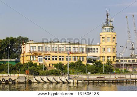 GDANSK, POLAND - JULY 28: Harbour Master at the Port of Gdansk on July 28, 2012 in Gdansk.