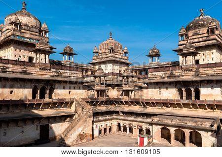 Jahangir Mahal Palace in Orchha, Madhya Pradesh, India
