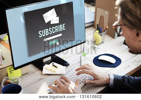 Subscribe Advertising Communication Member Concept