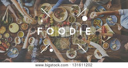 Foodie Food Eating Party Celebration Concept