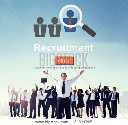 Recruitment Apply Homepage Human Resources Concept