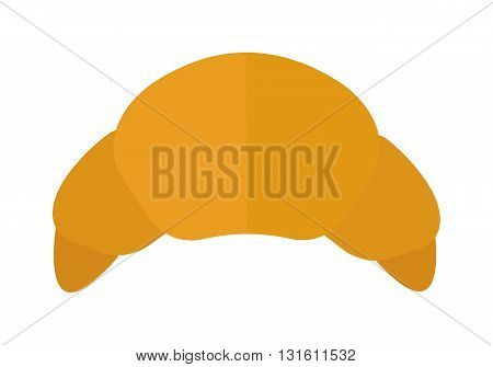 Croissant vector food isolated on white background. Fresh croissant French breakfast icon. Flat croissant vector symbol isolated. Croissant  food vector icon
