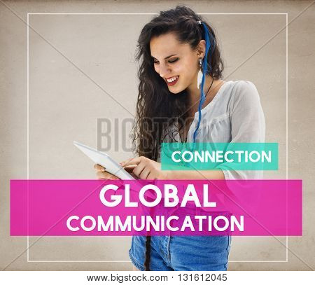 Student Woman Communication Connection Networking Concept