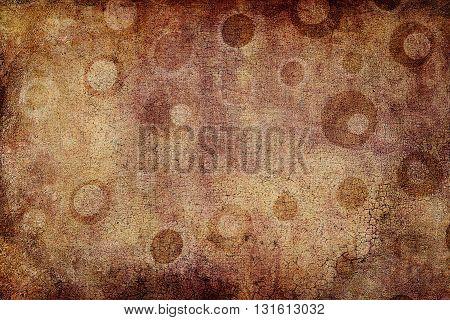 Brown Dots Texture With Craquelures