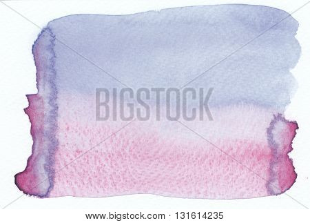 the abstract blue purple watercolor textures background