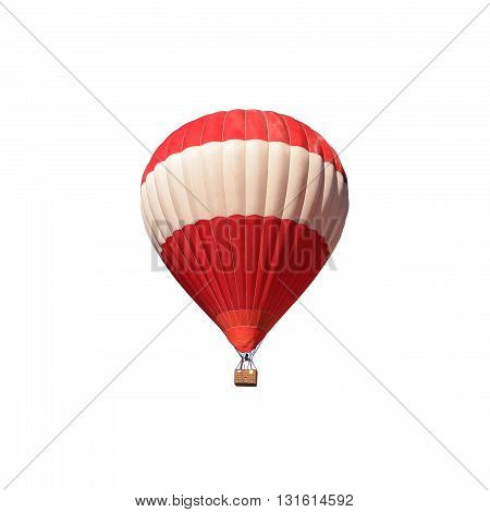 Hot air balloon on white color background