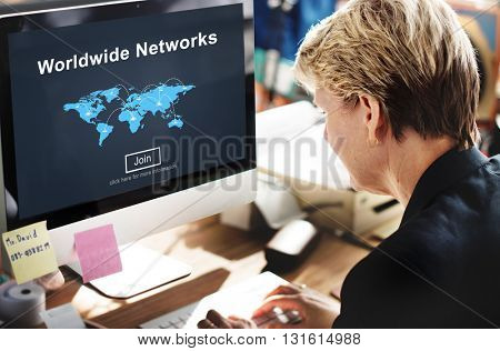 Worldwide Networks Global International Unity Concept