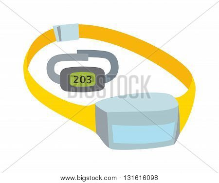Pulse oximeter measuring pulse rate and oxygen saturation, vector measuring pulse icon. Cardiology monitor healthcare measuring pulse and doctor patient tool electronic measuring pulse.
