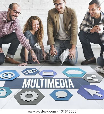 Multimedia Modern Technology Graphic Concept