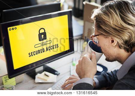 Lock Icon Password Protected Graphic Concept