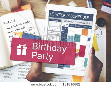 Birthday Party Anniversary Celebrate Happiness Concept