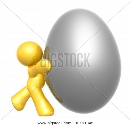 Silver easter egg icon