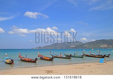 Colorful Boats On The Shore, Patong Beach