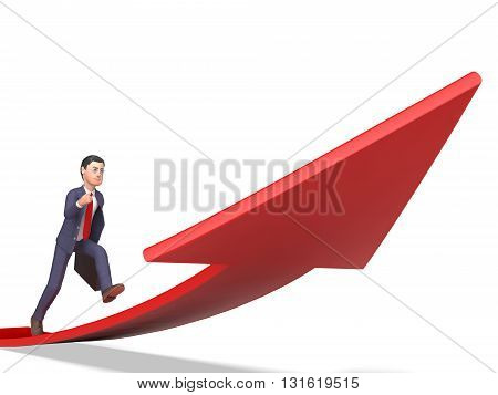 Aims Direction Means Business Person And Ahead 3D Rendering