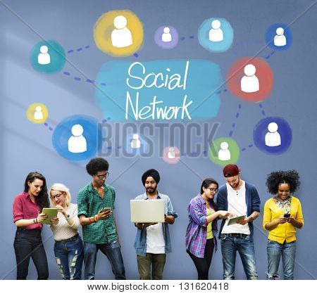 Social Network Communication Networking Connect Concept