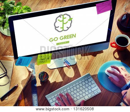 Go Green Refresh Think Green Concept