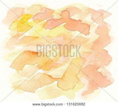 abstract orange yellow grunge textures watercolor background