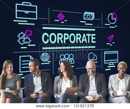 Corporate Business Organization Network Concept