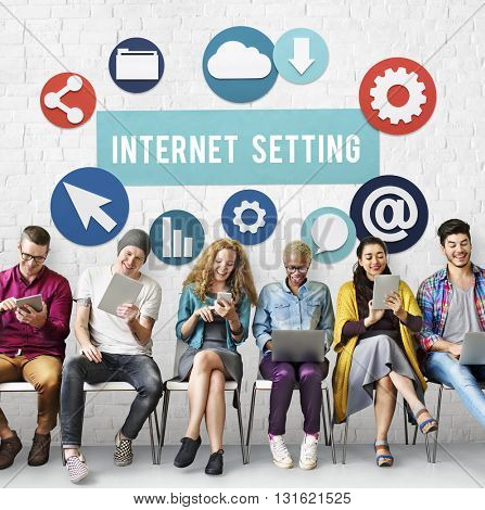Internet Setting Technology Online Cloud Network Concept