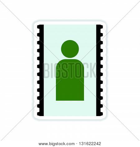 paper sticker on white  background mobile contact