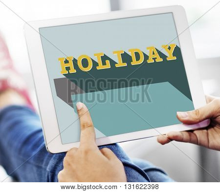 Holiday Rest Relax Information Technology Concept