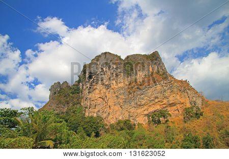 Scenery Mountain In Krabi Province, Thailand