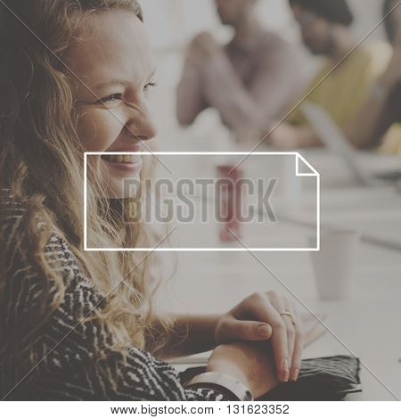 Attractive Business Woman Office Banner Graphic Concept