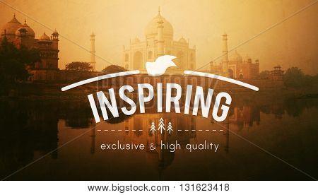 Inspiring Aspiration Confidence Imagination Concept