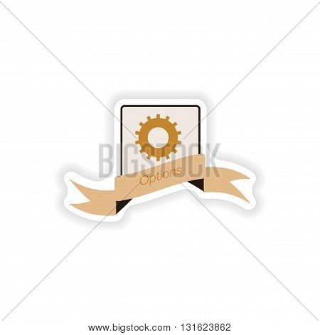 paper sticker on white background  Mobile phone options