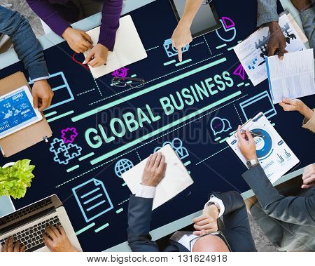 Global Business International Networking Trading Concept