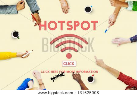 Hotspot Computer Connection System Internet Concept