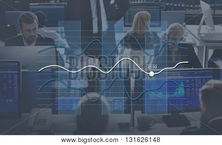 Line Graph Business Data Anaysis concept